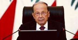 """El jefe de Estado libanés consideróla agresión de Israel """"una amenaza para el clima de estabilidad en el sur del Líbano""""."""
