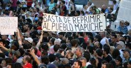 La comunidad mapuche se ha movilizado para demandar sean liberados sus compañeros presos.