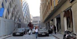 La capital del Líbano muestra graves daños en sus edificios y calles debido a las explosiones.