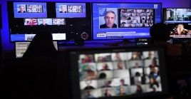 La sesión senado argentino sobre la Reforma Judicial siguió vía videoconferencia.