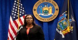 """La fiscal Letitia James asegura que los directivos de la NRA usaban los fondos de la asociación como una """"alcancía personal""""."""