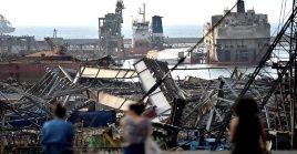 La explosión en el puerto de Beirut produjo daños por valor de 15.000 millones de dólares, según estimaciones iniciales.