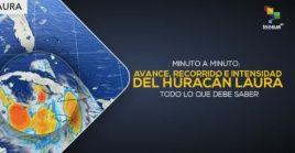 El huracán Laura amenaza ahora a la región noroeste del Golfo de México.