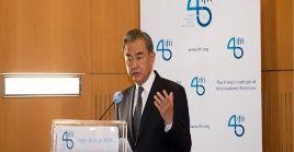 """Wang aclaró que Hong Kong """"es un asunto interno de China y ningún país tiene derecho a interferir""""."""
