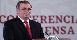 El canciller mexicano, Marcelo Ebrard declaró que su país también colabora en la fase 3 de un medicamento estadounidense para enfrentar el coronavirus.