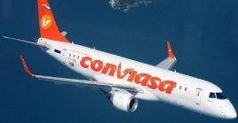 Una aeronave de Conviasa fue la encargada de trasladar a los ciudadanos.