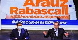 Andrés Arauz y Carlos Rabascall integran la fórmula presidencial de la Unión por la Esperanza para las elecciones de 2021 en Ecuador.