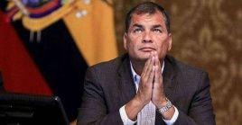 El expresidente Correa fue condenado a ocho años de presión por el caso Sobornos 2012-2016.