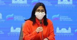 """""""Hoy nuevamente el Distrito Capital es la entidad que presenta mayor cantidad de contagios (95 pacientes), con nuevos casos en 17 de sus 22 parroquias"""", aseveró la vicepresidenta venezolana."""
