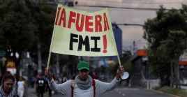 Sectores sociales ecuatorianos rechazaron el acuerdo de préstamo con el FMI.