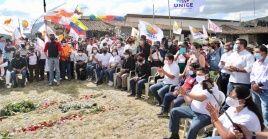 """El candidato presidencial opositor destacó que tuvo un """"encuentro histórico"""" con pueblos y nacionalidades indígenas de Ecuador."""
