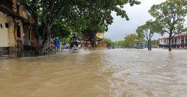 Las inundaciones llegaron a alcanzar cuatro metros de altura.