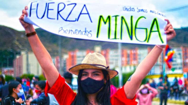 La Minga indígena arrancó desde el municipio de Caloto (Cauca) hasta arribar el pasado 12 de octubre a la ciudad de Cali,