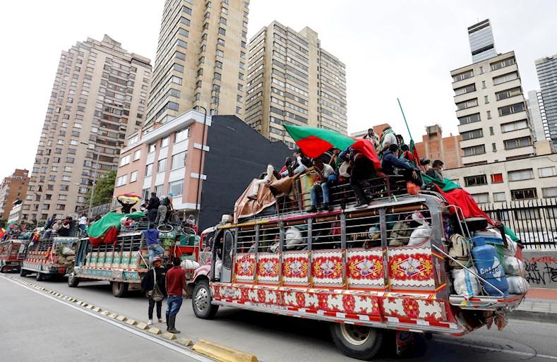 Los pueblos originarios, reunidos en la Minga, reclaman el fin de la violencia, la intensificación de la lucha contra la pobreza y el cumplimiento de los Acuerdos de Paz de 2016.