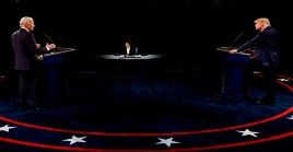Trump y Biden dedicaron a atacarse mutuamente durante el último debate presidencial.