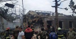 Según el canciller armenio, cerca de 8.000 estructuras civiles han sido destruidos por los ataques azeríes.
