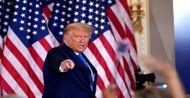 Este martes el equipo de campaña de Trump empleó el espacio de la Casa Blanca como centro de comando y una sala de fiestas.