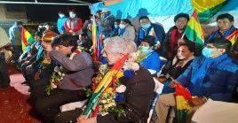 Durante su discurso ante la multitud reunida en Uyuni el expresidente recordó los logros económicos y sociales de su gobierno.
