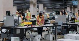 La ley electoral de Pensilvania permiteel conteo de los votos que han llegado a los circuitos electorales hasta tres días despuésde las elecciones.