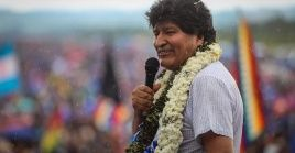 """Evo expresó que ha sido """"impresionante"""" el recibimiento del pueblo desde su llegada a Bolivia."""