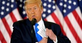 """Trump insistió en que """"hubo gente muerta"""" votando en los comicios del pasado 3 de noviembre."""