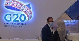 Al final de la cumbre, Arabia Saudita entregó la presidencia del G20 a Italia.