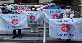 Valderaspuntualizó que los trabajadores de la salud están padeciendo precarias condiciones de sanidad y salarial.
