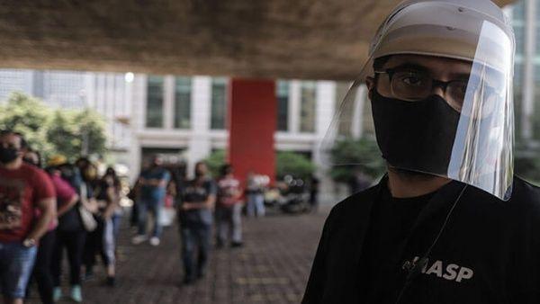 El estado de Sao Paulo es la región con más casos confirmados al registrar 1.210.625 contagios y 41.276  muertes.