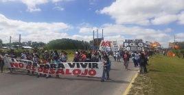 Los manifestantes también exigen a las centrales obreras un paro nacional y plan de lucha unificado.