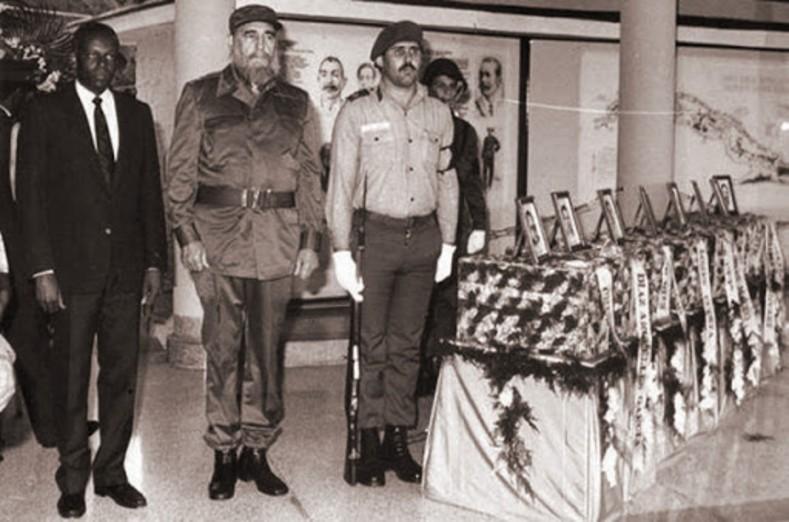 La ceremonia nacional fue realizada en el sitio de sepultura del más importante guerrero cubano del siglo XIX: el general Antonio Maceo; en El Cacahual.