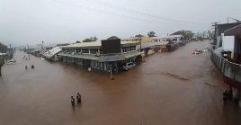 Las intensas precipitaciones de Yasa también causaron grandes inundaciones en la nación insular del Pacífico.
