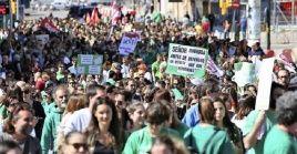 Similaresprotestas para exigir una educación gratuita, han sido convocadas recientementeel Sindicato de Estudiantes
