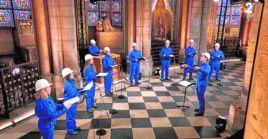 Henri Chalet, director del coro, dirigió un concierto con ocho de sus miembros, que fue emitido en Nochebuena.