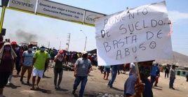 Con continuas movilizaciones populares y bloqueos de carretera rechazaron así la norma avalada por la comisión de Economía y que el Congreso de la República pretende aprobar el lunes próximo.