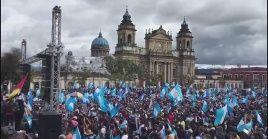 Desde noviembre, miles de guatemaltecos exigen la dimisión del presidente Alejandro Giammattei.