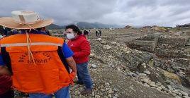 El viceministro de Defensa Civil, informó que moviliza maquinaria y asistencia humanitaria a las zonas afectadas por las lluvias.