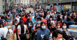 Perú contabiliza hasta ahora 1.102.795 contagios de la Covid-19, con 39.887 fallecidos.