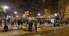 Los pobladores de Granada salieron a la calle debido a las rápidas repeticiones de los temblores.