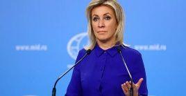 La vocera de la Cancillería rusa, María Zajárova, instó a las autoridades ucranianas a no interferir en las relaciones entre Rusia y otros Estados.