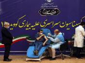 El ministro de Salud, Saeed Namaki, resaltóla eficacia de Sputnik V de 91,6 por ciento, en la presentación de la campaña de vacunación contra la Covid-19.