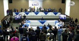 """El CNE indicó que """"una vez terminado el proceso de revisión se hará la proclamación definitiva de los resultados""""."""