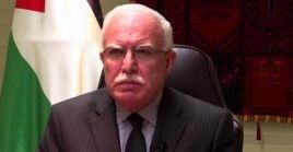 Riyad al-Malkireiteró la urgencia de que la comunidad internacional apoye el derecho palestino a la autodeterminación.
