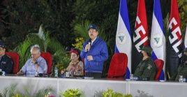 """""""El pueblo de Nicaragua sigue firme y seguirá firme con el acompañamiento y la solidaridad"""" con los pueblos de Venezuela y Cuba, puntualizó el presidente nicaragüense."""