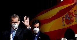 Los jefe del Estado y del Gobierno de España, Felipe de Borbón y Pedro Sánchez presidieron las conmemoraciones del 23F.