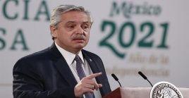 """""""Quiero que el acuerdo no le cueste a los argentinos"""", advirtió el mandatario argentino, Alberto Fernández."""