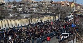 Este viernes el presidente armenio, Armén Sarkissian, aceptó reunirse con el Movimiento para la Salvación de la Patria.