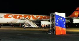Este fue el vuelo número 11 desde que se puso en marchael puente aéreo entre ambos países el 19 de marzo del año 2020.