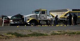 La colisión tuvo lugar a 15 kilómetros al norte de la frontera entre EE.UU. y México.