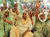 Las mujeres campesinas tomaron la delantera en la protesta que desde hace tres meses tienen lugar en varios territorios, incluyendo la capital.
