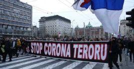 En Belgrado, Serbia, durante más de tres horas de concentración y marcha no hubo presencia policial perceptible ni tampoco incidentes.